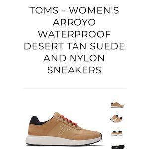 Tom's Arroyo Waterproof Sneaker in Desert Tan